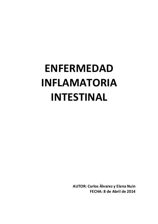 ENFERMEDAD INFLAMATORIA INTESTINAL AUTOR: Carlos Álvarez y Elena Nuin FECHA: 8 de Abril de 2014
