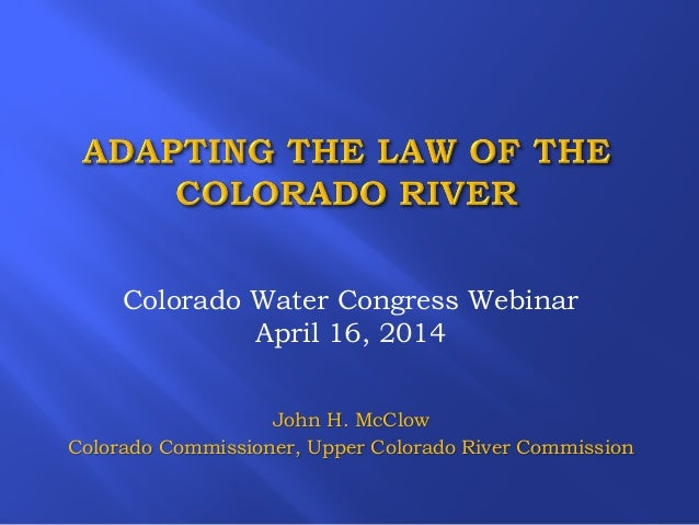 Adapting the Law of the Colorado River Presentation