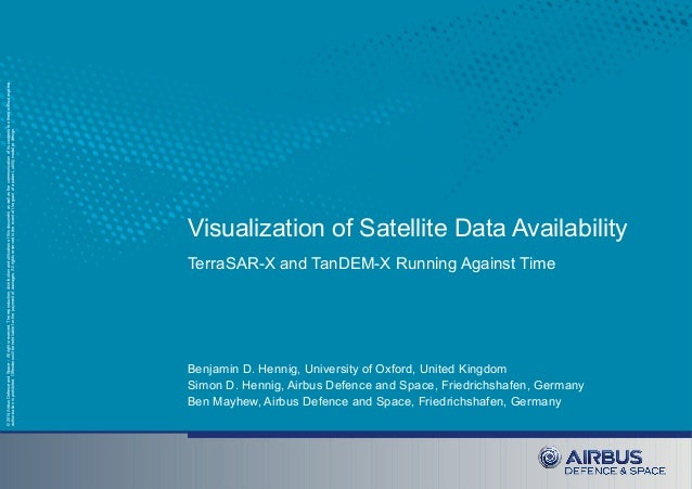Visualization of Satellite Data Availability: TerraSAR-X and TanDEM-X Running Against Time