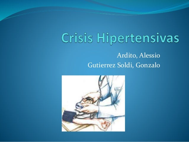 (2014-05-15) Crisis hipertensivas (ppt)