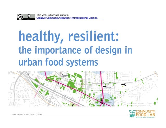 NYC Horticultural. May 30, 2014! healthy, resilient: the importance of design in urban food systems This work is licensed ...