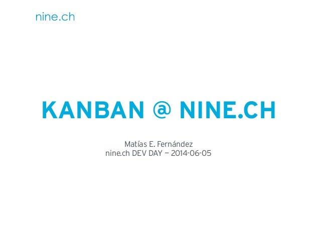 Kanban @ nine.ch