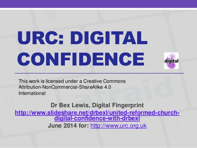 United Reformed Church: Digital Confidence with @drbexl