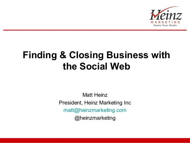 Finding & Closing Business with the Social Web