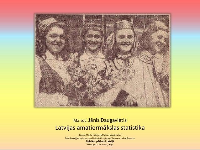 Latvijas amatiermākslas statistika