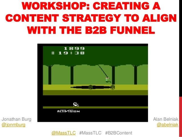 Aligning A Content Marketing Strategy to A B2B Marketing Funnel - a #MassTLC Presentation
