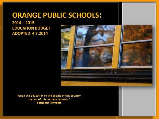 2014.2015. Final Education Budget 3.1%