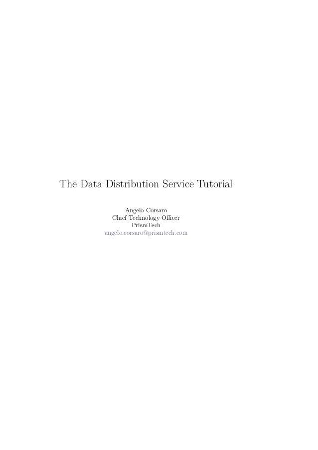 The Data Distribution Service Tutorial