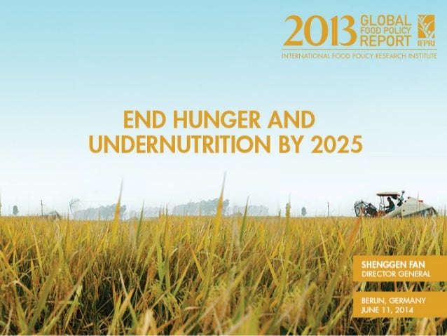 2013 Global Food Policy Report Berlin Launch Event