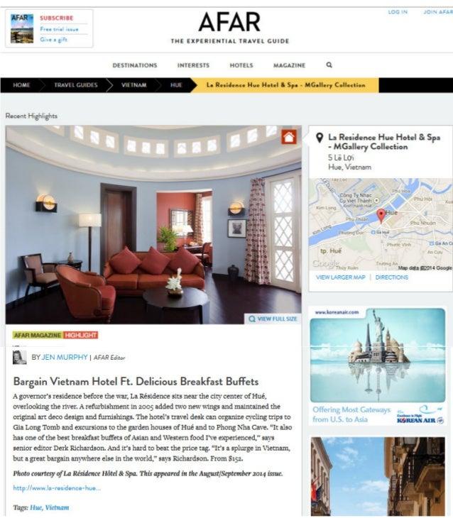 Afar Magazine - La Residence Hotel & Spa: Bargain Vietnam Hotel Ft. Delicious Breakfast Buffets