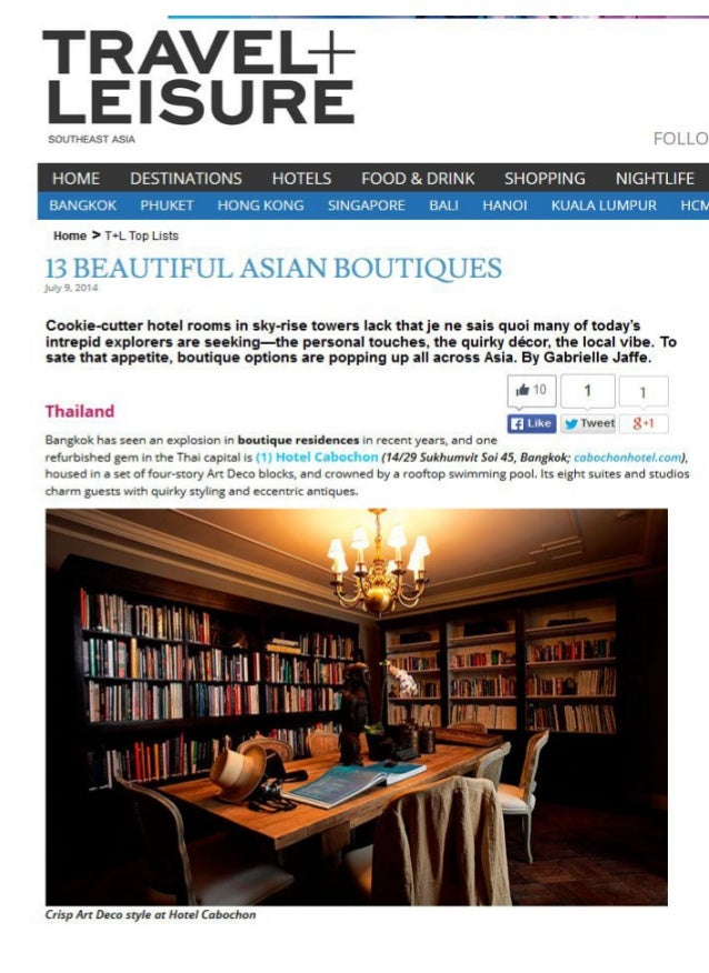 """Bagan Lodge named in """"13 Beautiful Asian Boutiques"""" of Travel + Leisure Southeast Asia"""