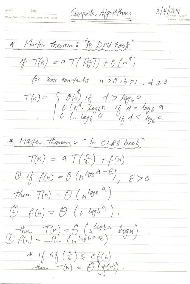 2014-1 computer algorithm w5 notes