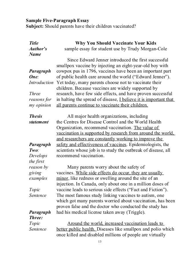 vaccines and autism argumentative essay Do vaccines cause autism essay get full essay her message is one of hope and healing and in clear support of the argument that vaccines do cause autism.