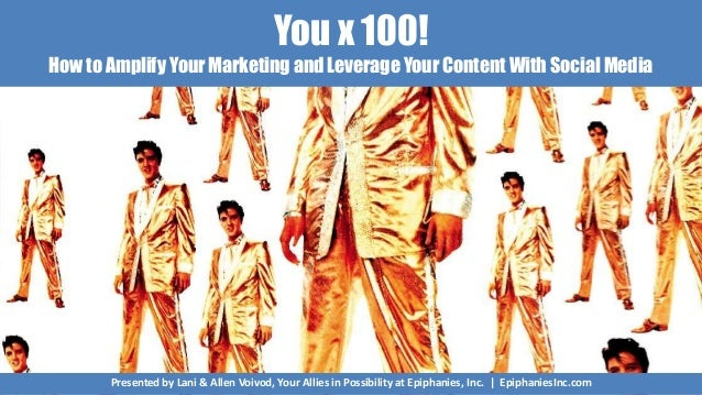 You x 100! How to Amplify Your Marketing and Leverage Your Content With Social Media Presented by Lani & Allen Voivod, You...
