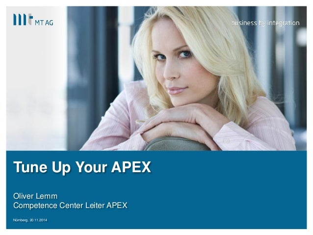 |  Tune Up Your APEX  Oliver Lemm  Competence Center Leiter APEX  Nürnberg, 20.11.2014