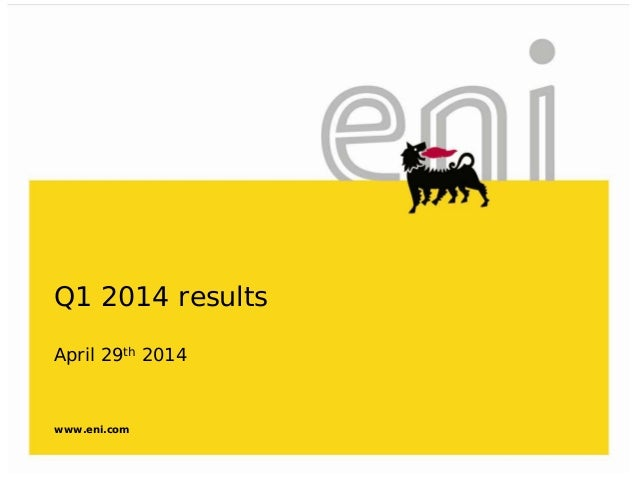 2014 First Quarter Results