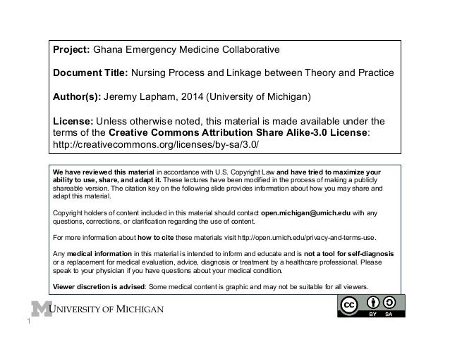 Project: Ghana Emergency Medicine Collaborative Document Title: Nursing Process and Linkage between Theory and Practice Au...