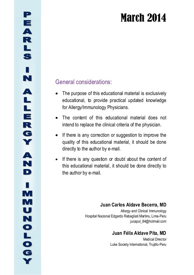 March 2014 General considerations: The purpose of this educational material is exclusively educational, to provide practic...