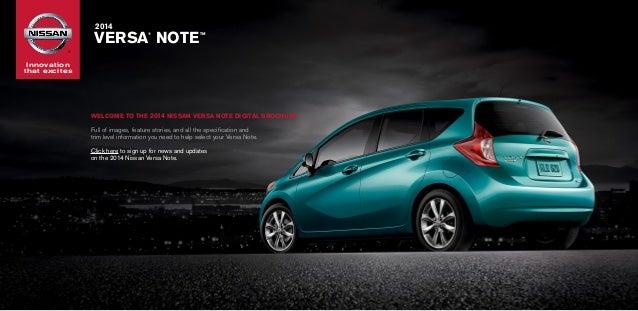 2014 nissan versa note brochure jack key auto group el for Superstar motors el paso