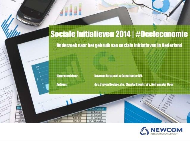 2014   NSMO - Cijfers Sociale initiatieven - 2014