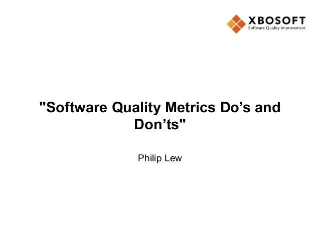 software testing metrics do's - don'ts-XBOSoft-QAI Webinar