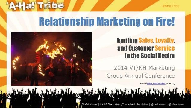 #AhaTribe AhaTribe.com | Lani & Allen Voivod, Your Allies in Possibility | @LaniVoivod | @AllenVoivod Igniting Sales, Loya...