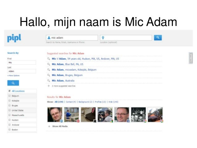 Hallo, mijn naam is Mic Adam Searching… • Social Profiles • Address details • Phone directory • News • Professional histor...