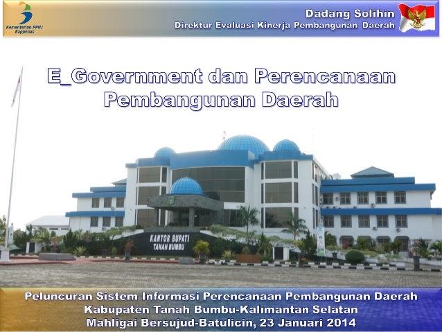 E_Government dan Perencanaan Pembangunan Daerah
