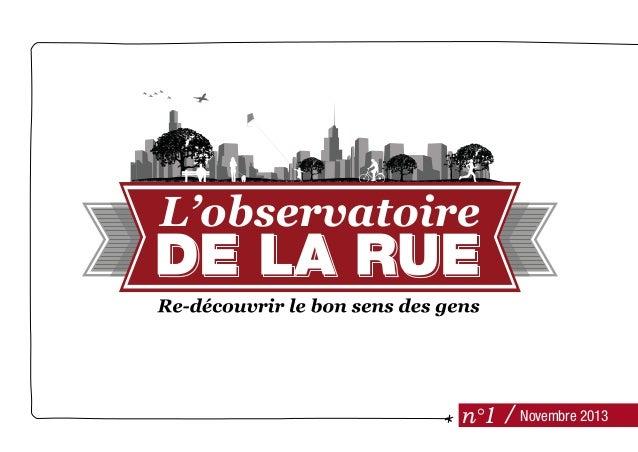 Observatoire de la rue - Baromètre #1 - Agence la Rue