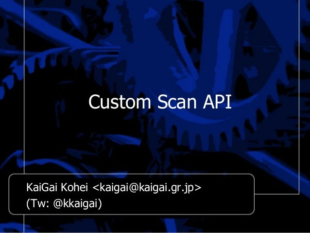 Custom Scan API - PostgreSQL Unconference #3 (18-Jan-2014)