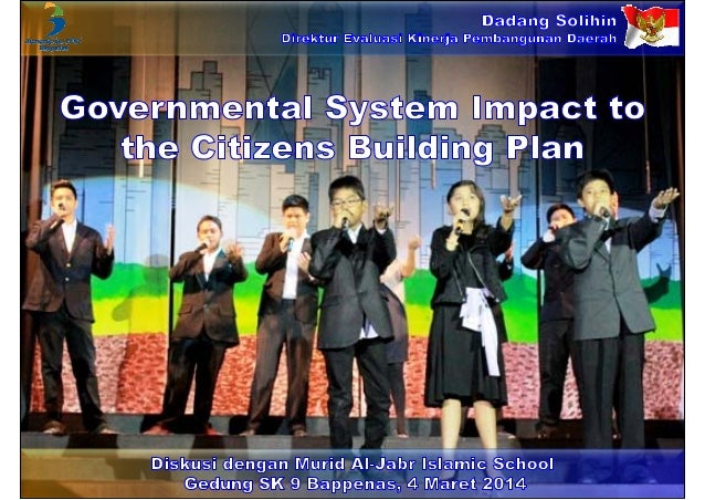 Governmental System Impact to the Citizens Building Plan