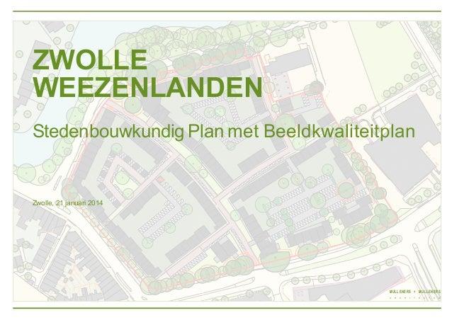Stedenbouwkundig Plan met Beeldkwaliteitplan De Weezenlanden te Zwolle