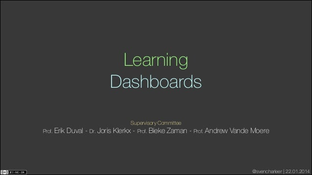 Learning Dashboards