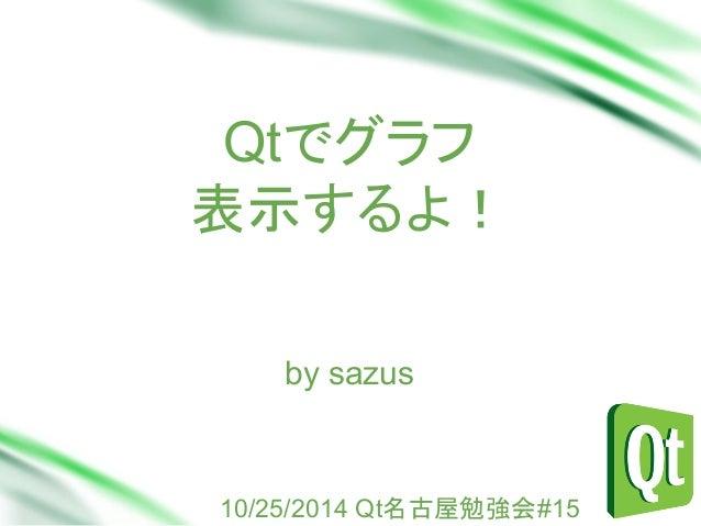 Qtでグラフ 表示するよ! Sub Head by sazus  10/25/2014 Qt名古屋勉強会#15