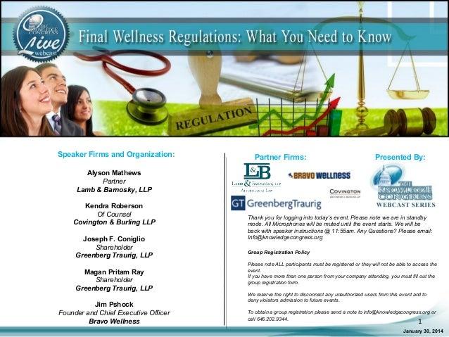 Speaker Firms and Organization:  Partner Firms:  Presented By:  Alyson Mathews Partner Lamb & Barnosky, LLP Kendra Roberso...