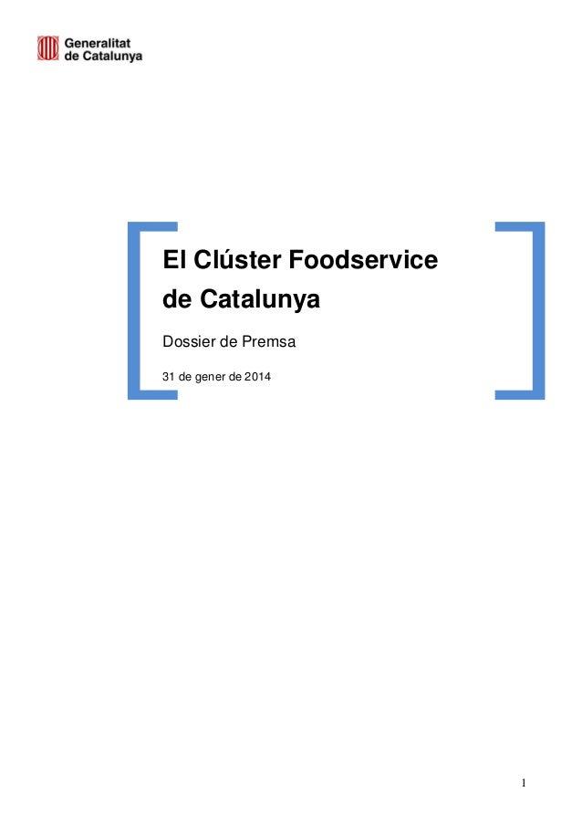 El Cluster Foodservice de Catalunya