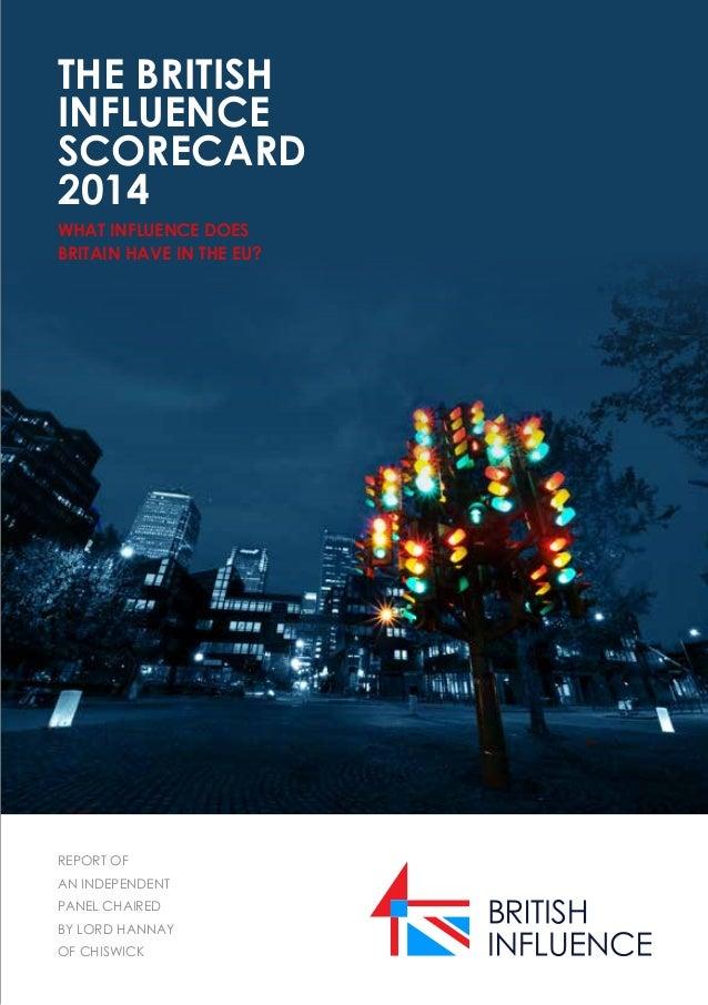 The British Influence Scorecard 2014