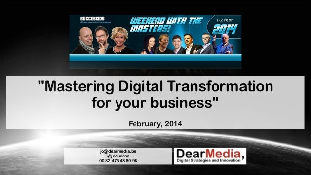 Mastering Digital Transformation for your business