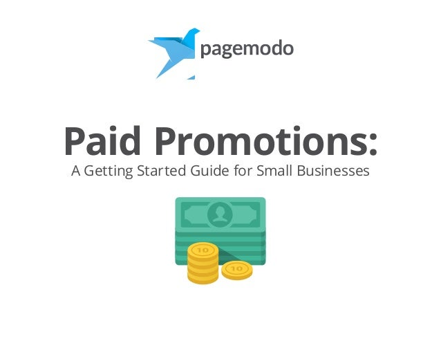 Paid Promotions: A Getting Started Guide for Small Businesses