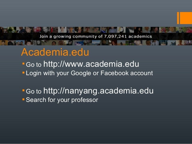 Academia research login