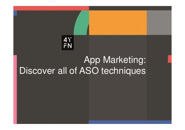 App Marketing: Discover all of ASO techniques