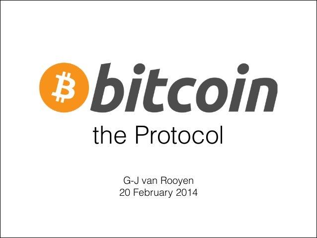 Bitcoin, the Protocol