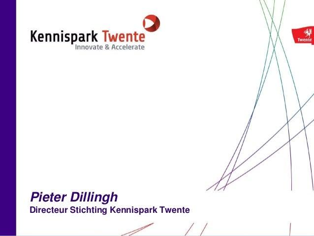 Pieter Dillingh Directeur Stichting Kennispark Twente
