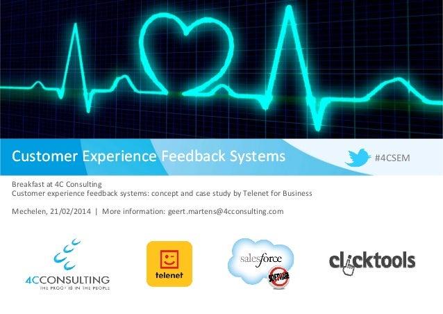 4C Consulting - Breakfast Seminar: Customer Experience Feedback Systems