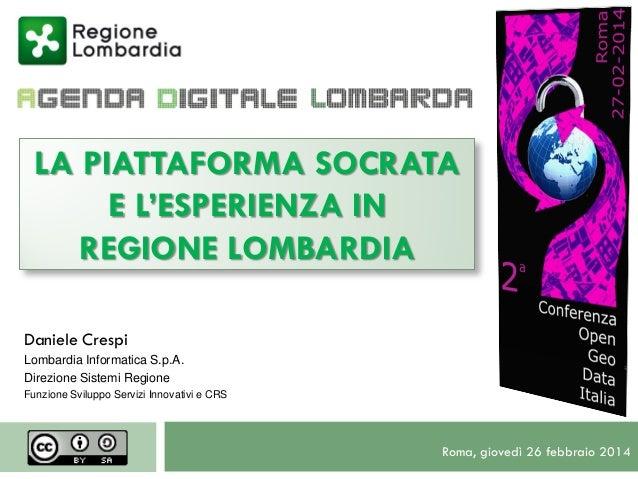 2014 02 27 OpenGeodata   Lombardia - Socrata