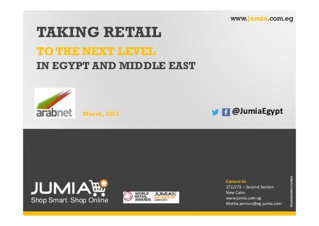 Taking Retail to the Next Level by Mattia Perroni, Jumia Egypt - ArabNet Beirut 2014