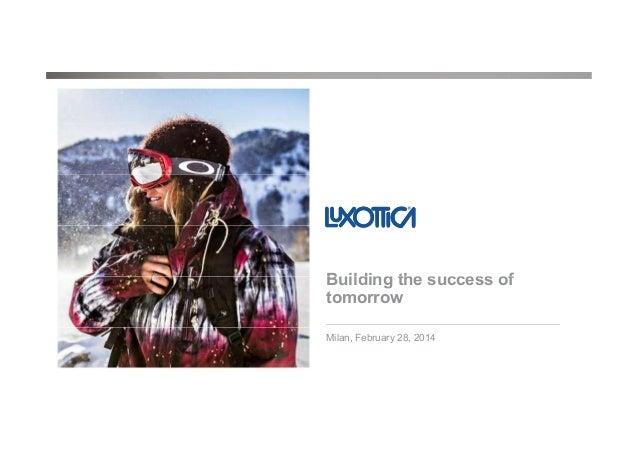 Luxottica FY13 Analyst & Investor presentation