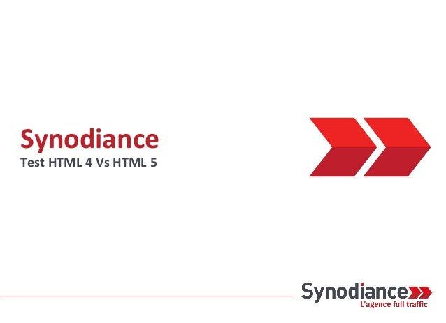 Synodiance Test HTML 4 Vs HTML 5