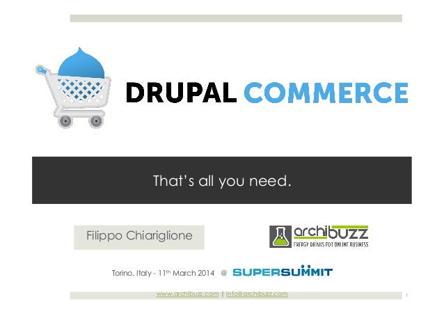 Drupal Commerce - That's all you need.