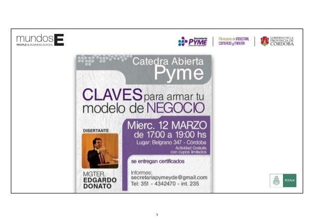 MODELO DE NEGOCIOS con CANVAS BMG Business Model Generation